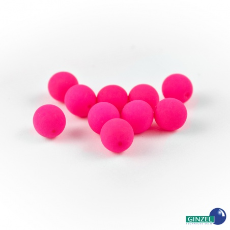 Neonové korálky - růžové, 8 mm, 10 ks