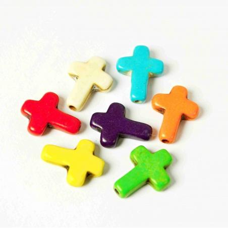Křížek syntetický barevný  16 mm - 2 ks
