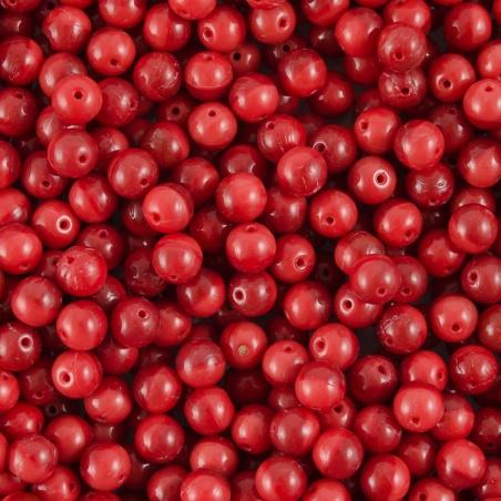 Vážené - červené  kuličky 6 mm