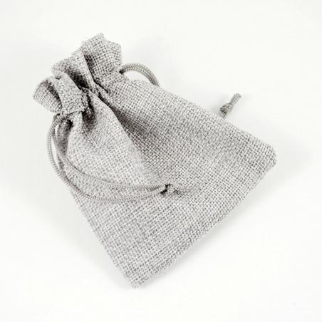 Sáček imitace juta - šedá perlová