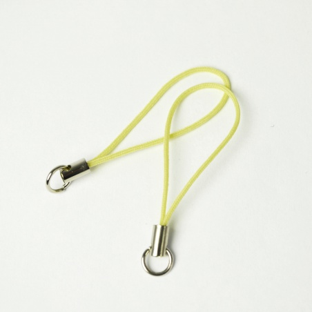 Šňůrka na mobil - žlutá 2 ks