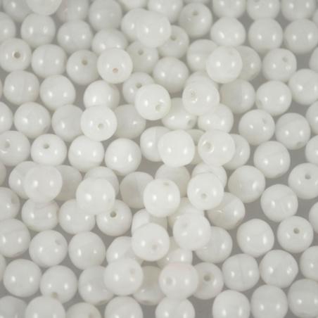 Vážené - korálky kuličky bílé 6 mm