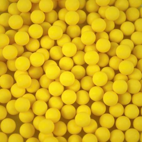Barevné kuličky  - 6 mm žlutá mat