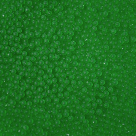Barevné kuličky  - 2 mm zelená mat