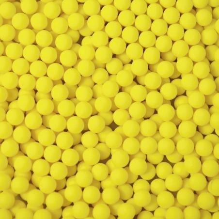 Barevné kuličky  - 4 mm žlutá mat