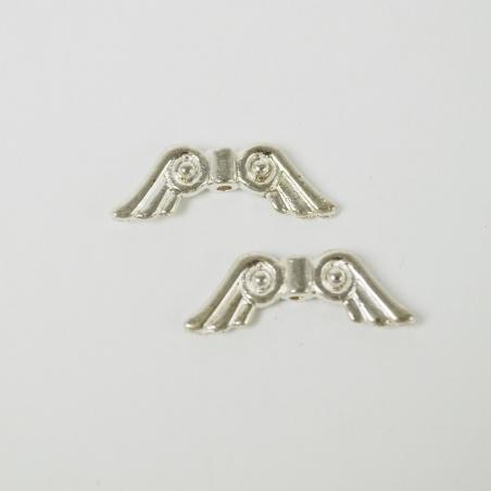 Ozdoba - andělská křídla antik stříbro