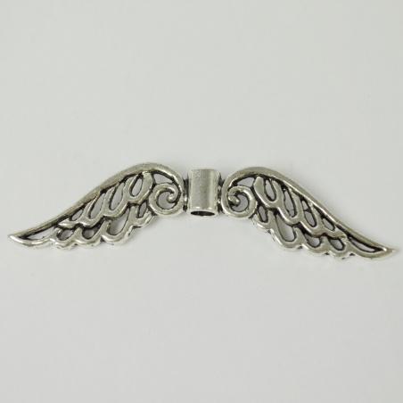 Ozdoba - andělská křídla stříbrná velká