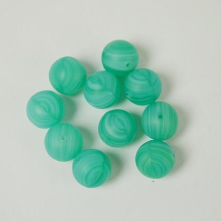 Korálky 8 mm - 10 ks mat zelená