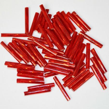 Trubičky - červená 10g - 1,5cm