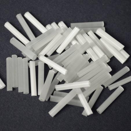 Trubičky - bílé ledové 10g - 1,5cm