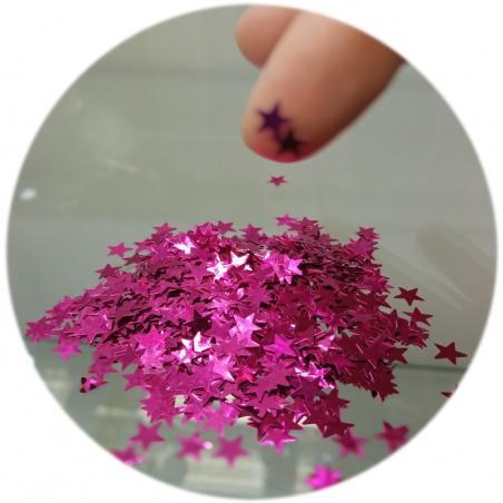 Polyester Glitter - hvězdičky vínové 100g