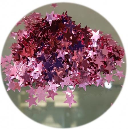 Polyester Glitter - hvězdičky růžové 100g