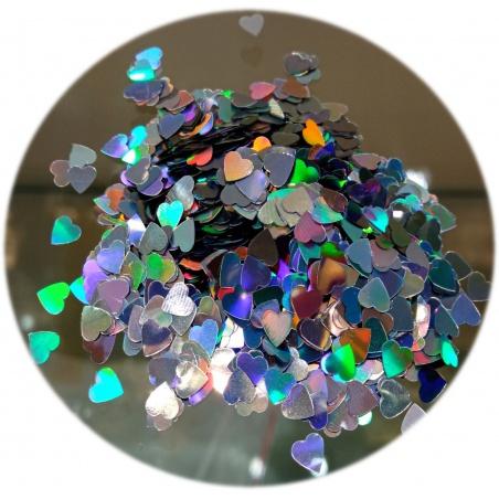 Polyester Glitter - srdíčka AB 100g