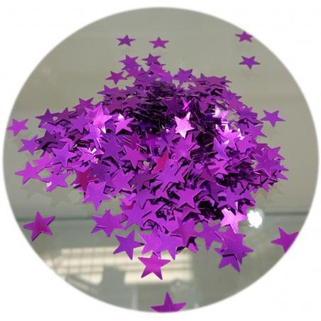 Polyester Glitter - hvězdičky fialové 100g