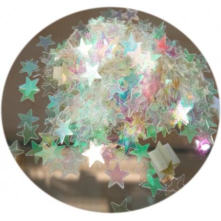Polyester Glitter - hvězdičky zlaté 100g